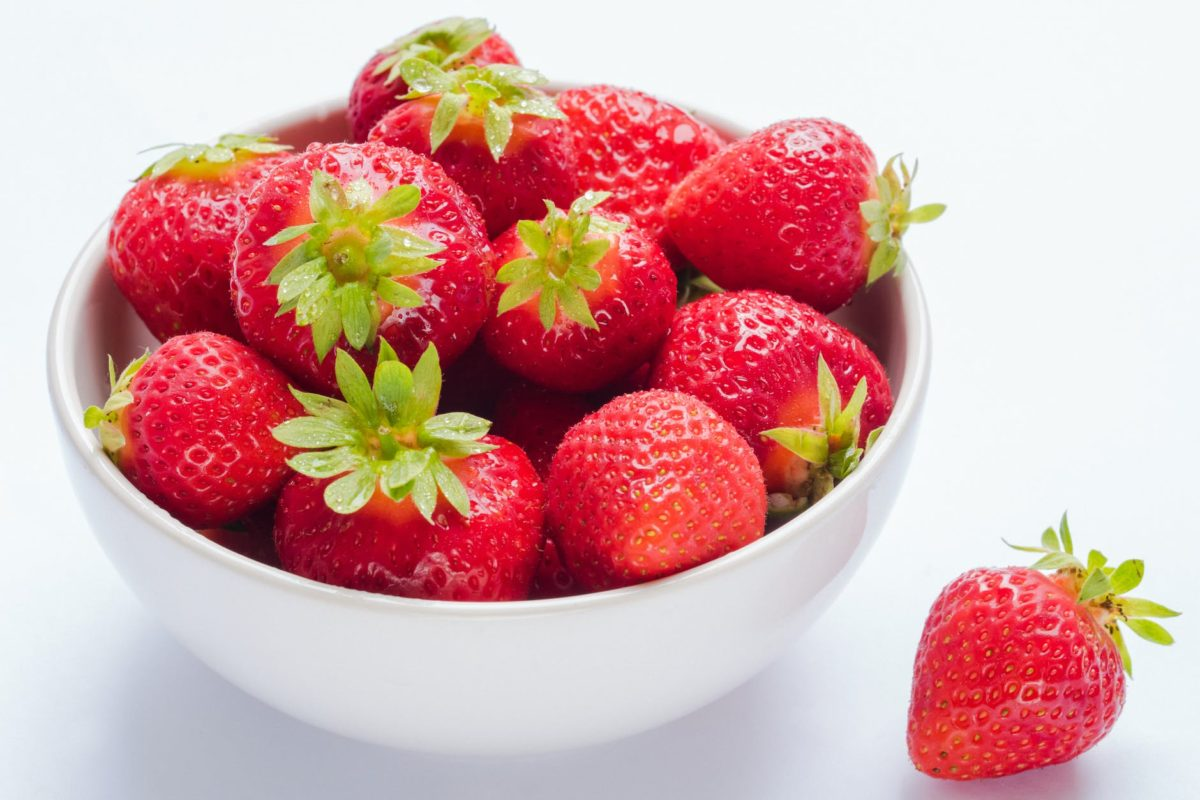 bowl of strawberry fruits