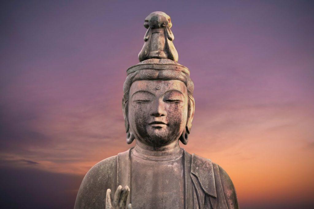 buddha statue during golden hour