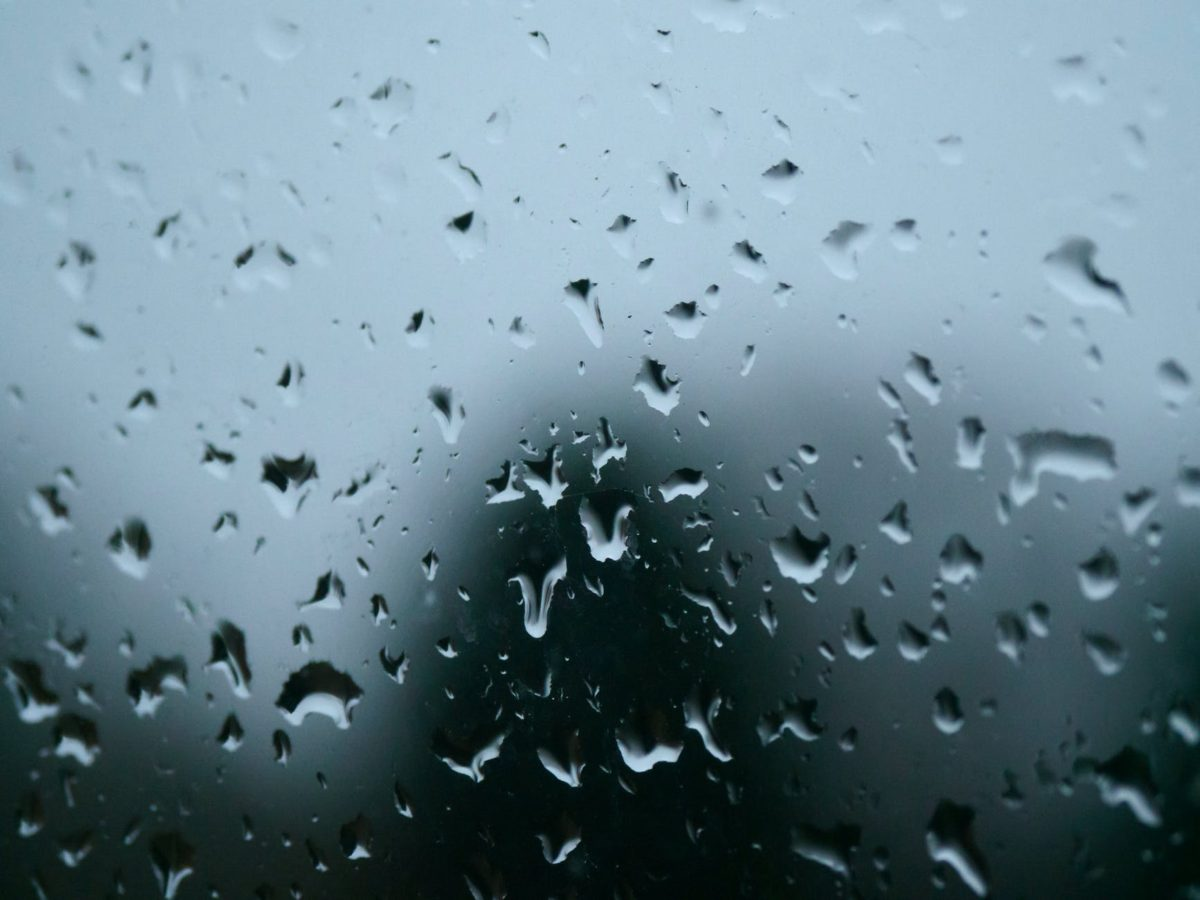 cold glass rainy blur